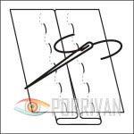 Сметывание деталей вручную прямыми стежками