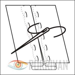 В особо сложных местах и при выполнении посадки детали одежды можно сметать разметочными ручными стежками