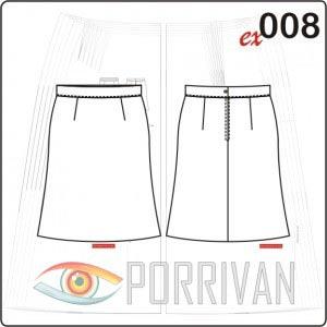 Выкройка прямой расширенной юбки