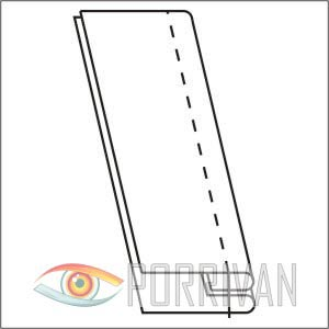Накладной шов с двумя закрытыми срезами, фото 1