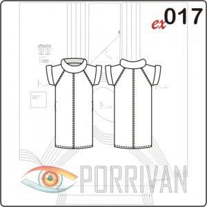 Выкройка платья с рукавом реглан