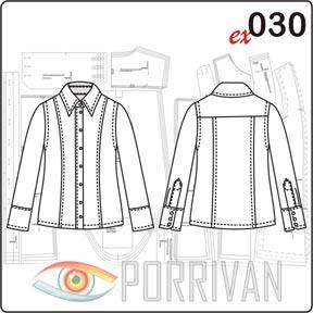 Выкройка блузки с длинным рукавом
