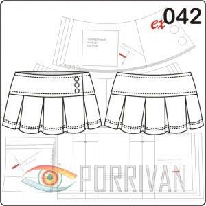 Готовые выкройки юбка в складку