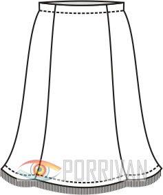 Выкройки юбки годе для девочки