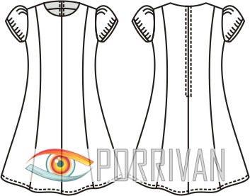 Выкройка детского платья с короткими рукавами