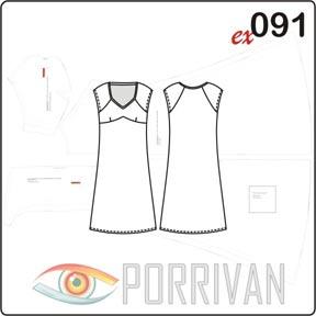 Выкройка платья из трикотажа