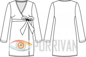 Выкройки платья с запахом 50 размер