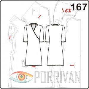 dbaa19562ec Выкройка платья с рукавом 3 4 - Porrivan