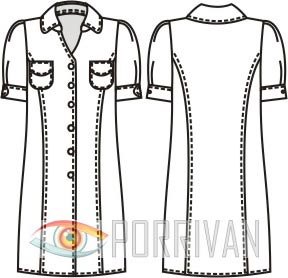 Выкройка платья рубашки