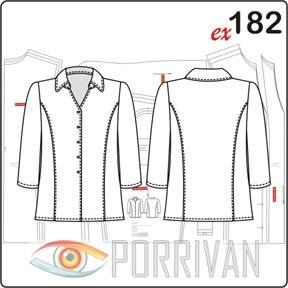 Размеры блузки 44, 46, 48, 50, 52, 54