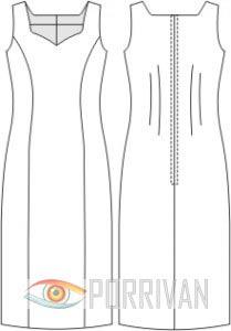 Выкройка длинного платья в пол