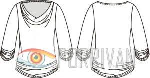 Выкройка блузки качели