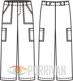 Выкройка брюк для мальчика с накладными карманами