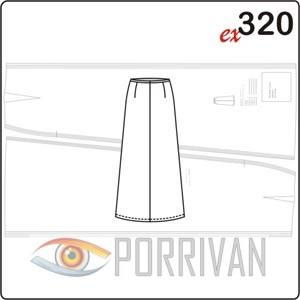 Выкройка длинной юбки в пол