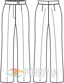 Выкройка классических брюк
