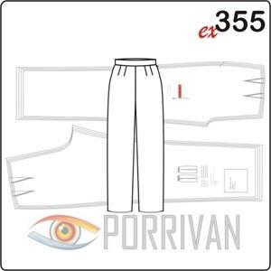 Выкройка классических прямых брюк
