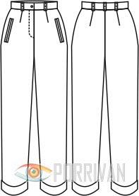 Выкройка зауженных брюк