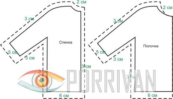 Готовые выкройки: припуски при кройке деталей одежды с цельнокройным рукавом