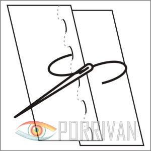 накладной шов с открытыми срезами, рисунок 1