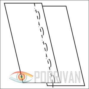 накладной шов с открытыми срезами, рисунок 2