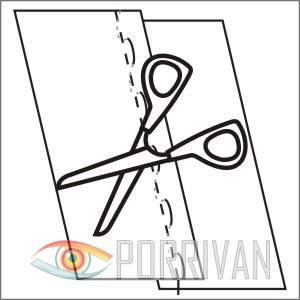 накладной шов с открытыми срезами, рисунок 3