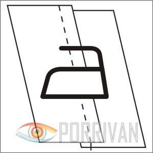 накладной шов с открытыми срезами, рисунок 4