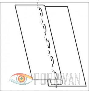 Накладной шов с закрытым срезом, рисунок 3