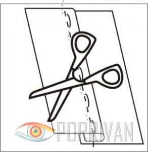 Накладной шов с закрытым срезом, рисунок 4