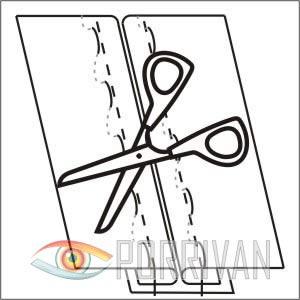 Расстрочной шов второго типа, рисунок 5