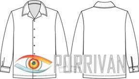 Выкройка мужской рубашки с длинными рукавами