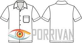 Выкройка мужской рубашки с короткими рукавами и карманом