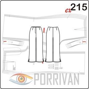 Выкройка укороченных летних брюк с разрезами