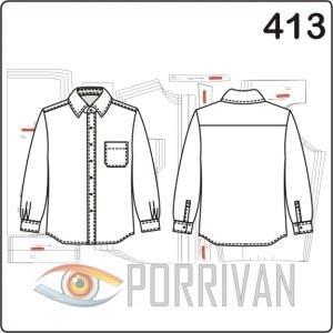 Выкройка приталенной мужской рубашки