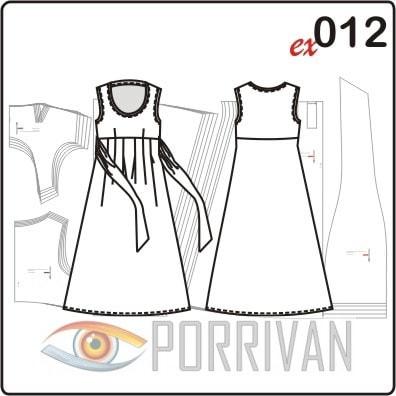 Выкройка платья для полных женщин