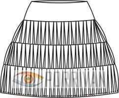 Выкройка короткой юбки из трикотажа в резинку