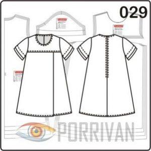 Выкройка платья для девочки 7, 8, 9, 10 лет