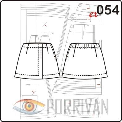 Короткая юбка для девочки — выкройка на 4, 5, 6, 7 лет