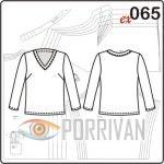 Выкройка блузки из шёлка для полных женщин большого размера