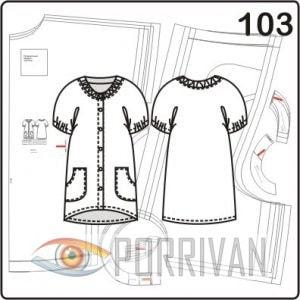 Выкройка 3 в 1: пляжное платье, домашнее, плащ