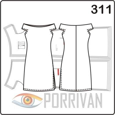 Выкройка летнего платья с горловиной лодочкой