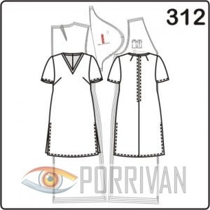 Выкройка 2 в 1: туника и верхнее платье