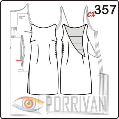 Выкройка платья с вырезом на спинке