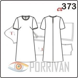 78a3d1eb93c Выкройка простого платья с коротким рукавом - Porrivan