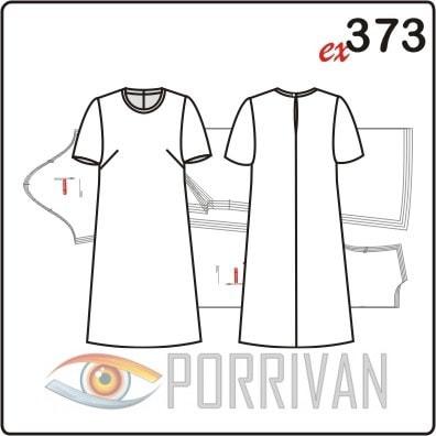 Выкройка простого платья с рукавом