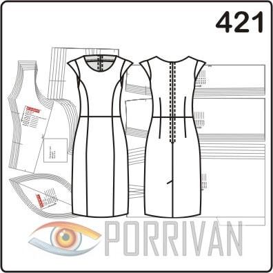 0a4064c33f4 3 выкройки платьев прилегающего силуэта - Porrivan