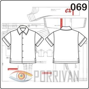 Выкройка рубашки для мальчика с короткими рукавами