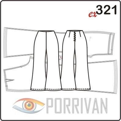 Выкройка брюк клёш для размеров 44, 46, 48, 50