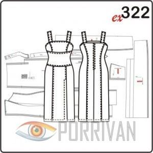 Викрійка приталеного плаття на широких бретелях - Різне - Все про ... 5f4558050c30a