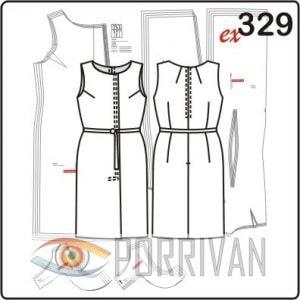 Выкройка классического прямого платья