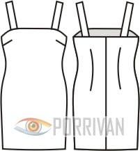 Выкройка мини платья на бретельках